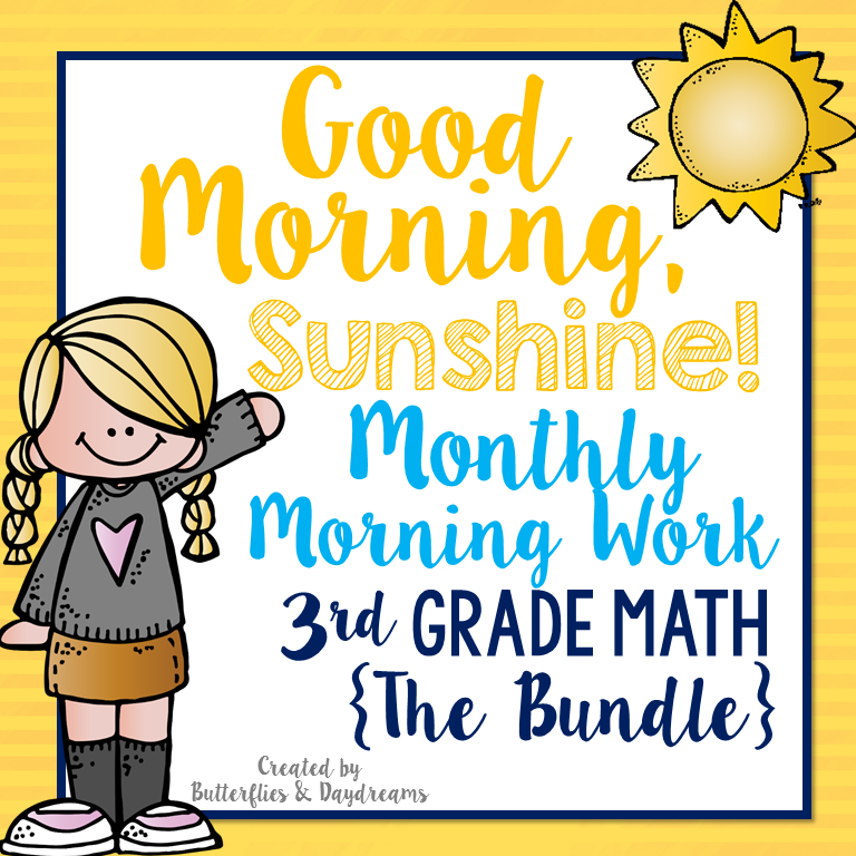 3rd Grade Morning Work Bundle | The Literacy Loft