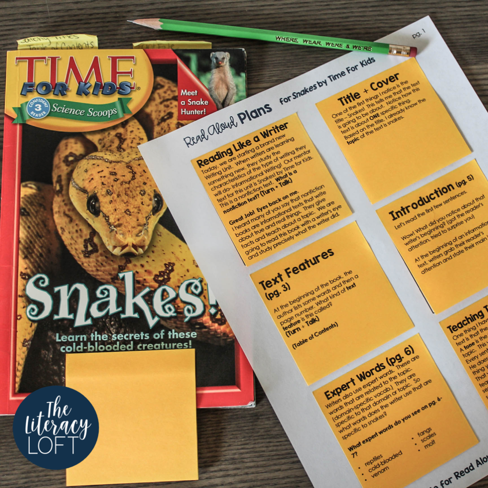 Mentor Texts for Informational Writing