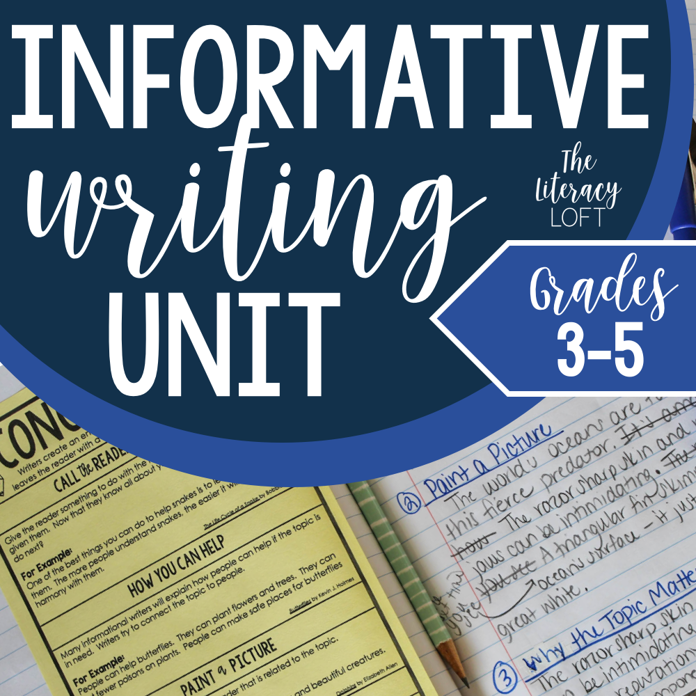 How to Teach Informational Writing - A complete unit guide and free informational writing unit sampler.