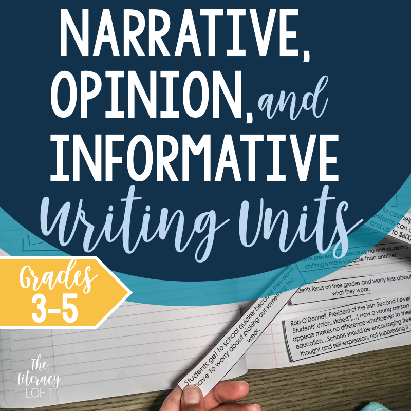Informational, Narrative, and Opinion Writing Bundle