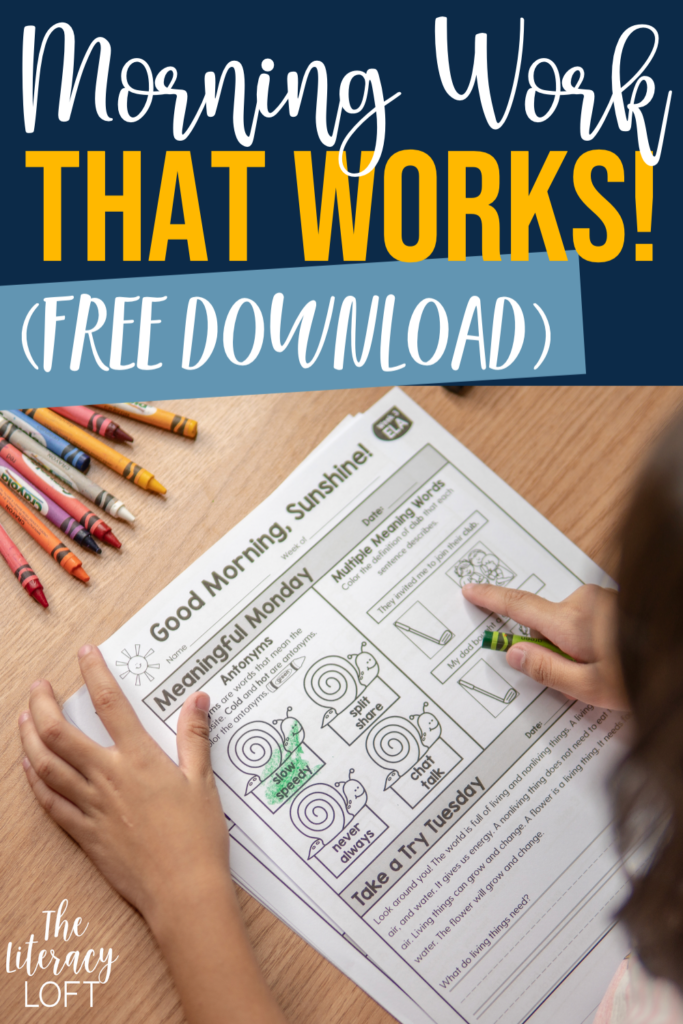 Morning Work that Works! (Free Download) Pin