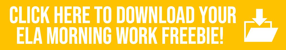 Free ELA Morning Work Download